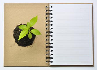 Save environment by recycle notebook