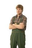 Handyman in workwear poster