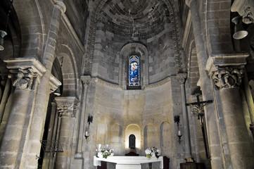 Interior St. Giovanni Battista Church. Matera. Basilicata.