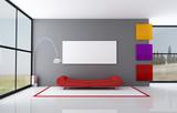 Fototapety colored minimalist living room