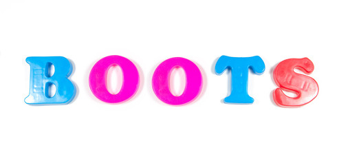 boots written in fridge magnets