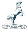 horse label vintage