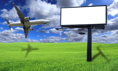 BLank billboard with plane