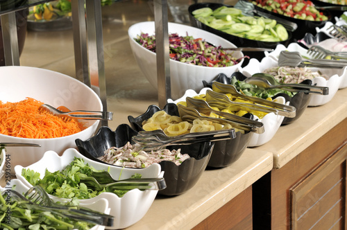 In de dag Buffet, Bar Catering food at a wedding party