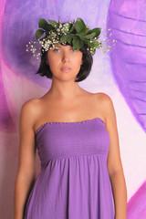 Beautiful woman - gorgeous flower nymph