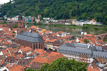 View of Heidelberg city, Germany