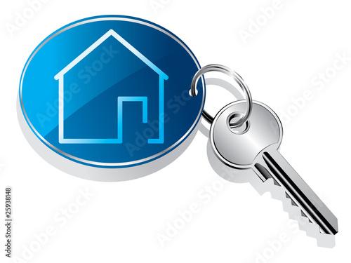 House key ring vector