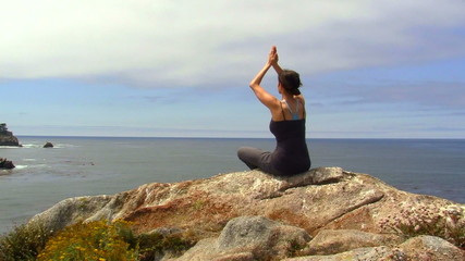 Woman meditates - HD