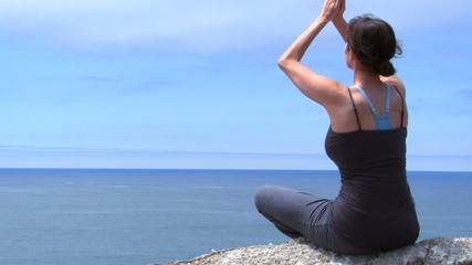 Yoga meditation close up - HD
