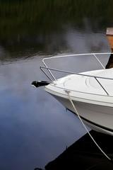 Moored yacht