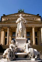 Konzerthaus hall statue, Gendarmenmarkt square