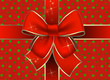 Navidad paquete de regalo con un lazo rojo
