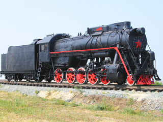 The old steam locomotive.