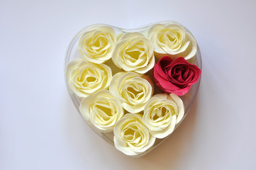 Heart of soap roses