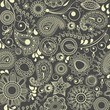 Floral seamless background, paisley motif