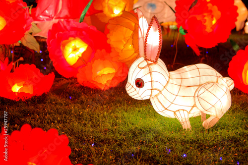 rabbit lantern for Chinese mid autumn festival