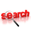 search icon - search 3d letters under the magnifier