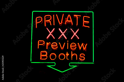 Private XXX neon sign