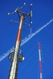Telecommunications towers. poster