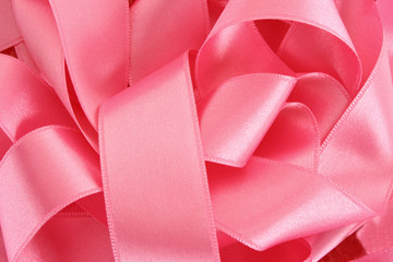 many ribbons on red