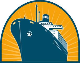 Passenger boat ocean liner ship