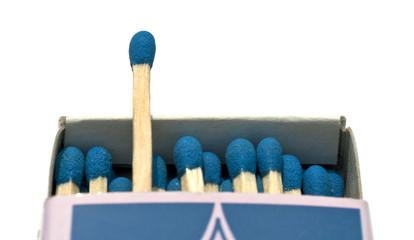 Allumettes bleues