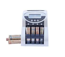 coin counting rolling sorting machine