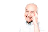 Happy pensioner poster