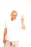 Trendy pensioner poster