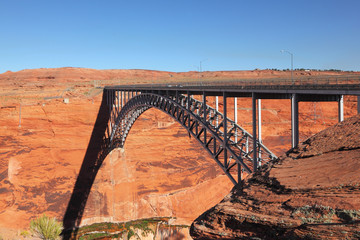Beautiful bridge next to the Glen Canyon Dam