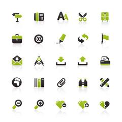 Green Black Website Icons
