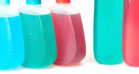 liquid soap, gel, shampoo