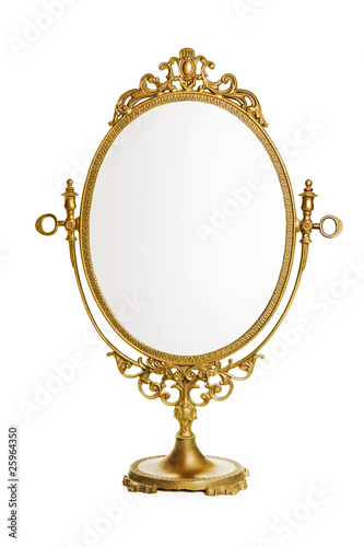 Golden antique mirror - 25964350