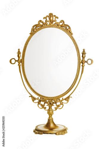 Leinwandbild Motiv Golden antique mirror