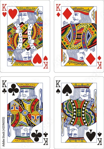playing cards classic king 62x90 mm - 25965512
