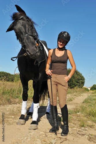 cavalière et son cheval