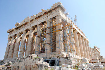 Parthenon Side Front Close Up view