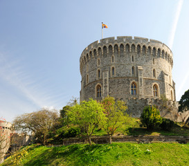 Windsor Castle on Blue Sky Day, UK