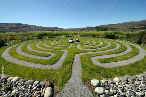 Leinwanddruck Bild Washington outdoor Labyrinth