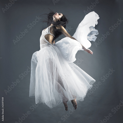 Plexiglas Akt Fairy flying girl