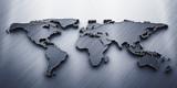 3D render  world map