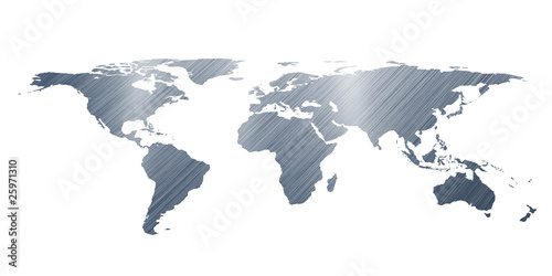Staande foto Wereldkaart 3D render world map