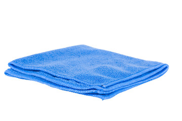 Blue rag isolated