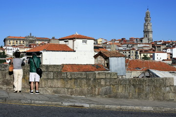 tourists taking pictures in Porto