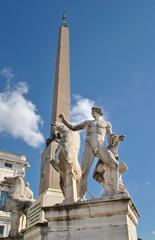 Fontana dei Dioscuri e obelisco - Quirinale - Roma - Italia