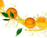 Fototapety Orange juice isolated on white