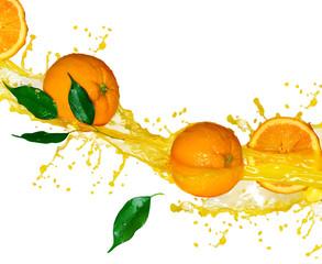 Sok pomarańczowy na białym tle