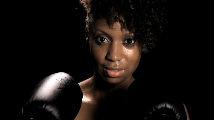 Woman Boxing (close)