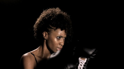 Woman Boxing on Angle