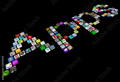 Apps - Many Tile Icons of Smart Phone Applications
